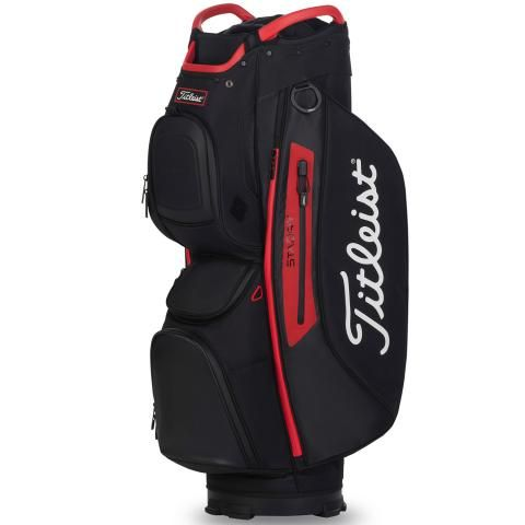 Titleist 2020 Cart 15 StaDry Waterproof Golf Cart Bag Black/Red