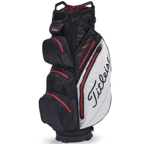 Titleist 2020 StaDry Waterproof Golf Cart Bag Black/White/Red