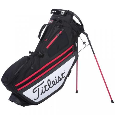 Titleist 2020 Hybrid 14 Golf Stand Bag Black/White/Red