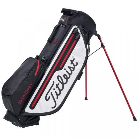 Titleist 2020 Players 4 Plus StaDry Waterproof Golf Stand Bag Black/White/Red