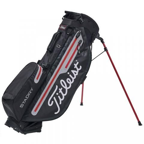 Titleist 2019 Players 4 Plus StaDry Golf Stand Bag Black/Sleet/Red