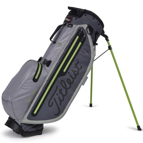 Titleist 2020 Players 4 Plus StaDry Waterproof Golf Stand Bag Charcoal/Grey/Apple