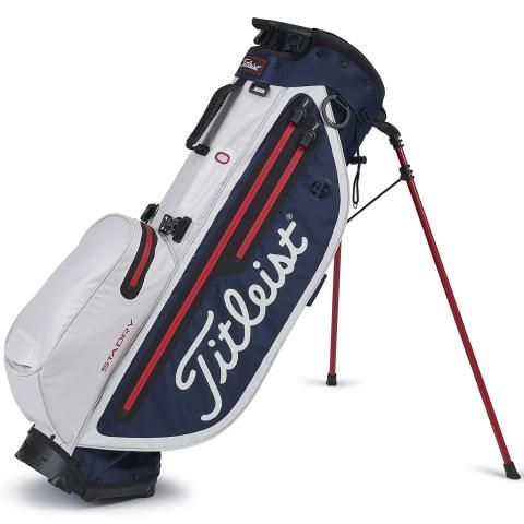Titleist 2020 Players 4 Plus StaDry Waterproof Golf Stand Bag Navy/White/Red