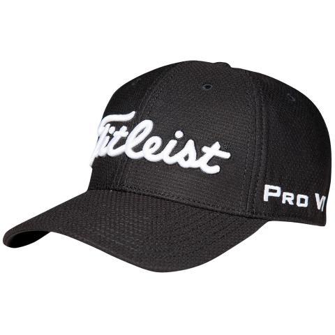 Titleist Dobby Tech Fitted Baseball Cap Black/White