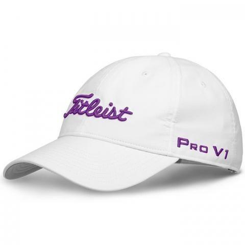 Titleist Ladies Tour Performance Adjustable Golf Cap White/Purple