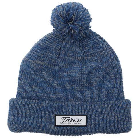Titleist Lifestyle Pom Pom Winter Beanie Hat Harbour/Navy/Grey