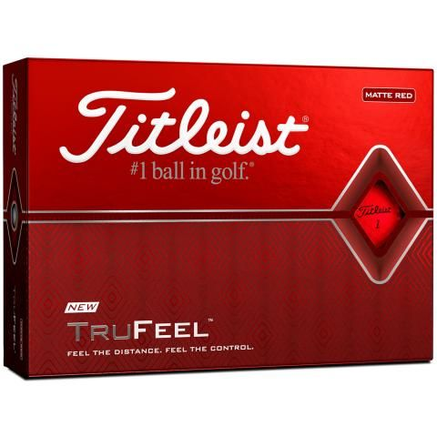 Titleist TruFeel Golf Balls Red / Dozen
