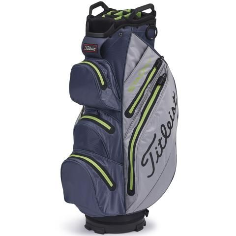 Titleist 2020 StaDry Waterproof Golf Cart Bag Grey/Charcoal/Apple