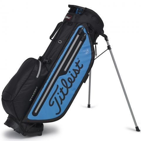 Titleist 2020 Players 4 Plus StaDry Waterproof Golf Stand Bag Black/Blue/Grey