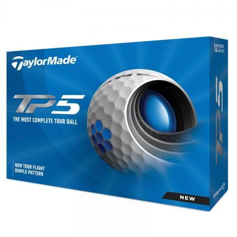 TaylorMade 2021 TP5 Golf Balls White / Dozen