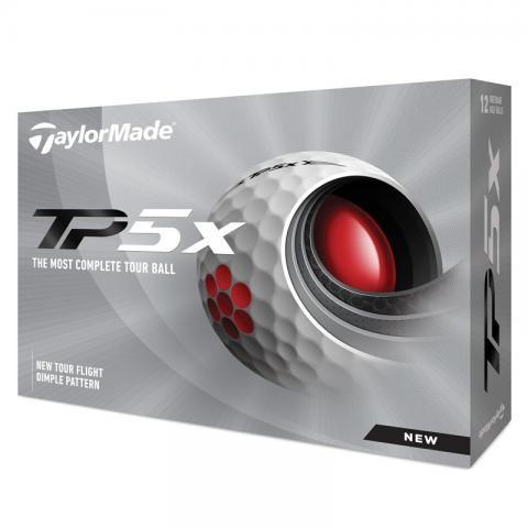 TaylorMade 2021 TP5x Golf Balls White / Dozen