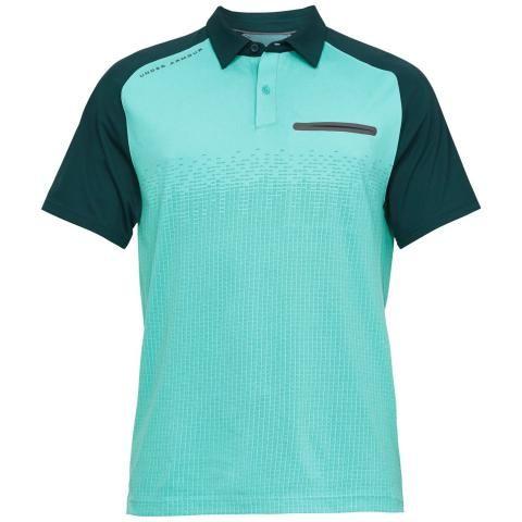 Under Armour Tour Tips Rise Polo Shirt Batik/Azure Teal/Pitch Grey