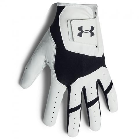 Under Armour Iso-Chill Leather Golf Glove Right Handed Golfer / White/Black