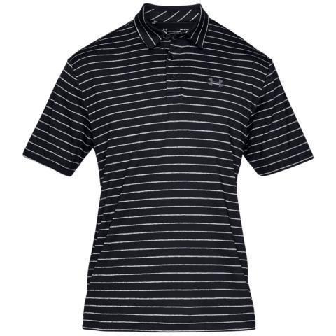 Under Armour Playoff 2.0 Micro Stripe Polo Shirt Black/Pitch Grey