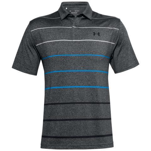 Under Armour Playoff 2.0 Stripe Polo Shirt Pitch Grey/Black