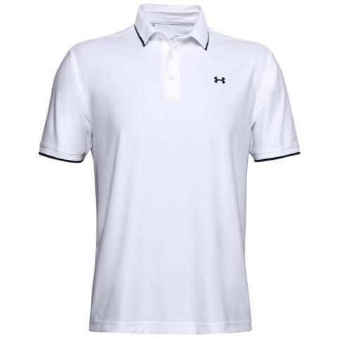Under Armour Playoff Pique Polo Shirt White/Academy