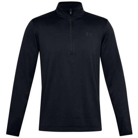 Under Armour Fleece Zip Neck Golf Sweater Black