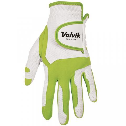 Volvik True-Fit One Size Golf Glove Right Handed Golfer / White/Lime