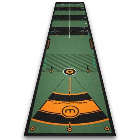 Wellputt 10 Foot High Speed Practice Putting Mat High Speed Version with App feedback