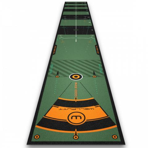 Wellputt 13 Foot High Speed Practice Putting Mat High Speed Version with App feedback