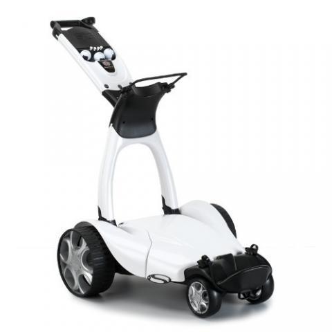Stewart X9 Follow Electric Golf Trolley Pearl White / Lithium Battery