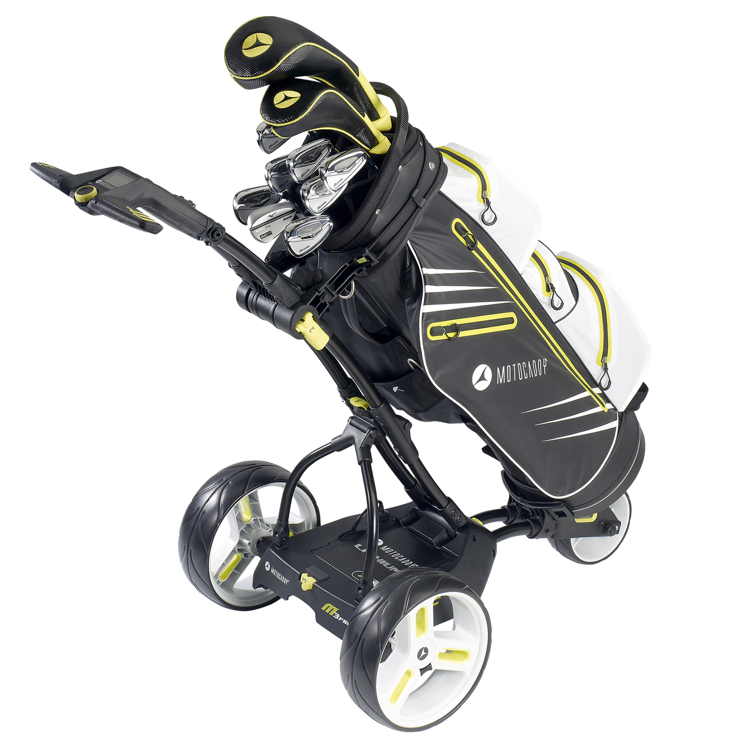 motocaddy m3 pro electric golf trolley black or alpine with a lead acid or lithium battery. Black Bedroom Furniture Sets. Home Design Ideas