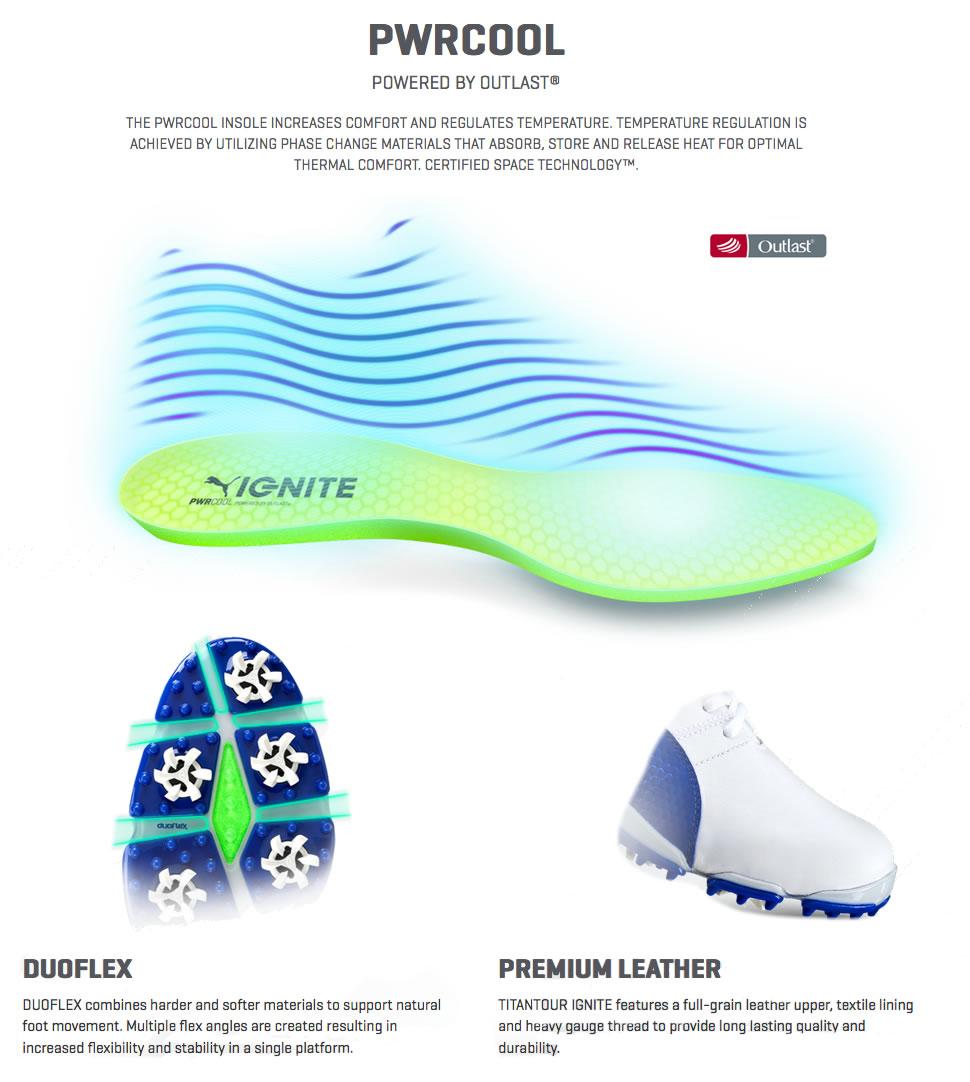 Puma TitanTour IGNITE Golf Shoes Technology 6e96ea1a9