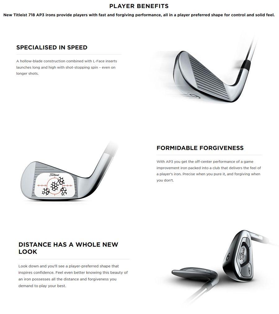 Titleist AP3 718 Golf Irons Steel