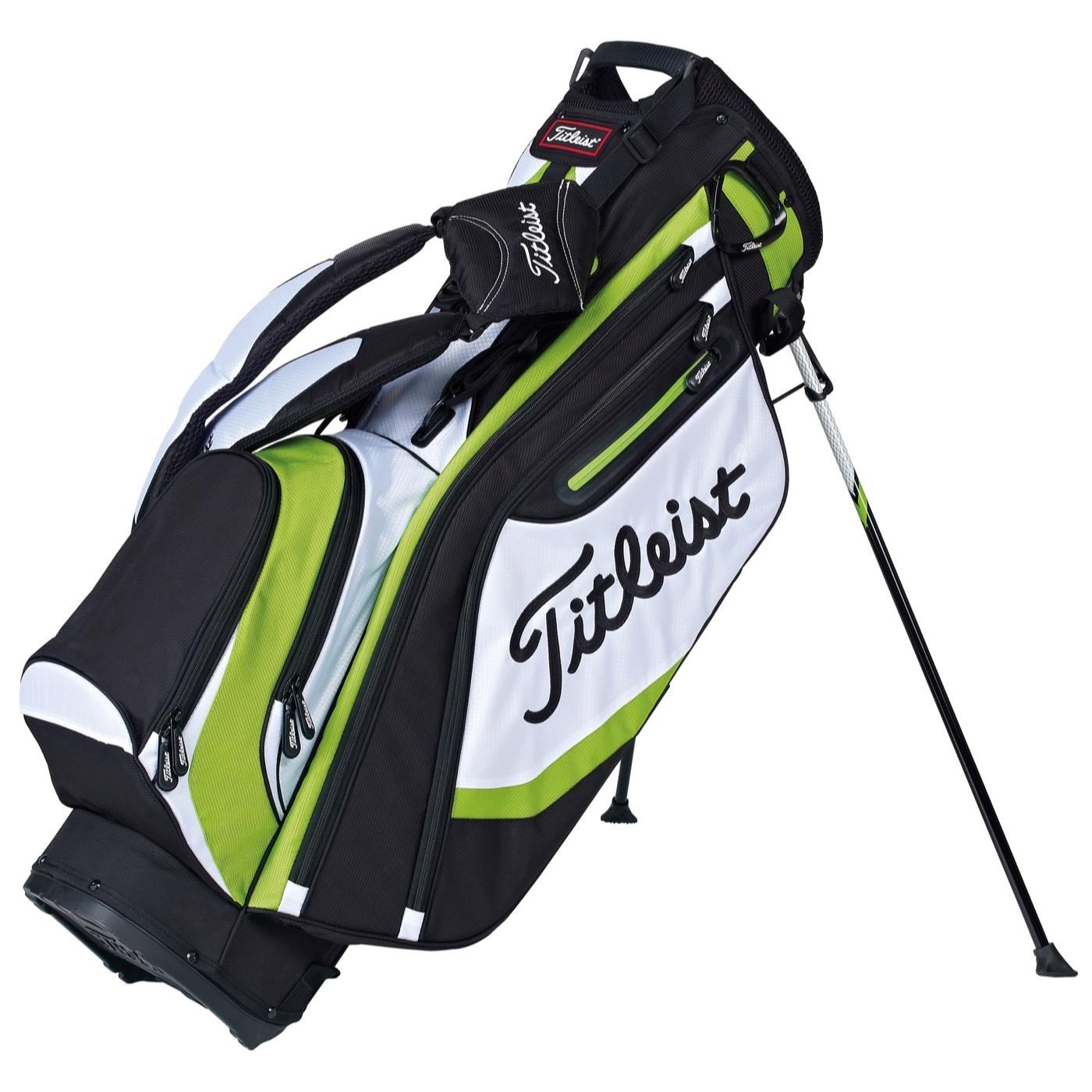 titleist lightweight golf stand bag black white green. Black Bedroom Furniture Sets. Home Design Ideas