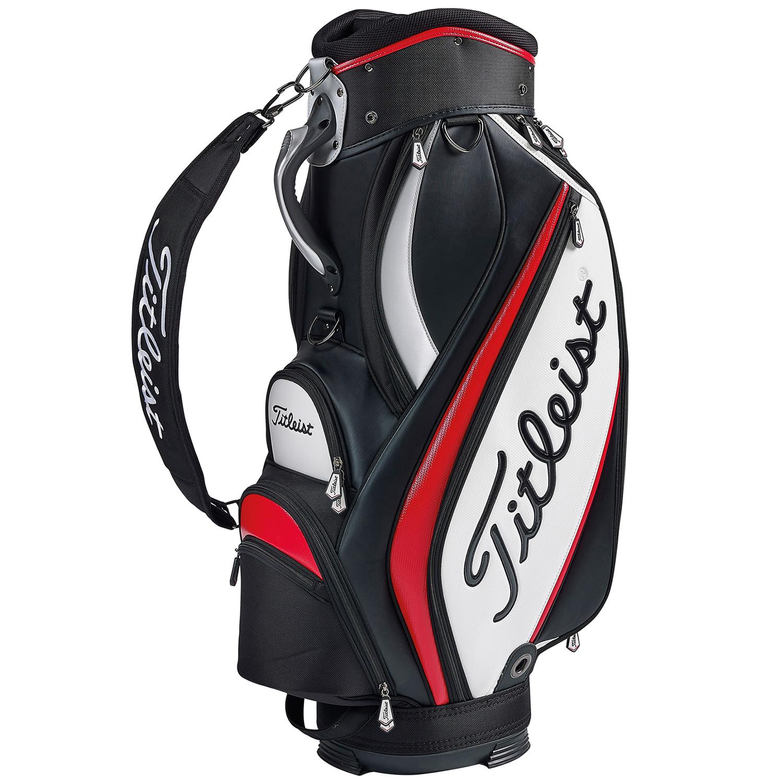titleist midsize golf staff bag black white red. Black Bedroom Furniture Sets. Home Design Ideas