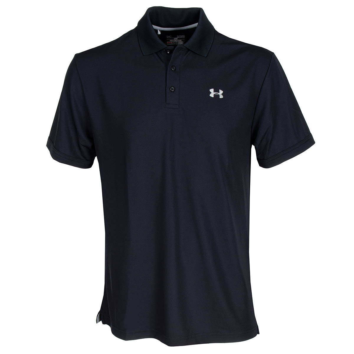 Under armour performance polo shirt black steel for Under armour embroidered polo shirts