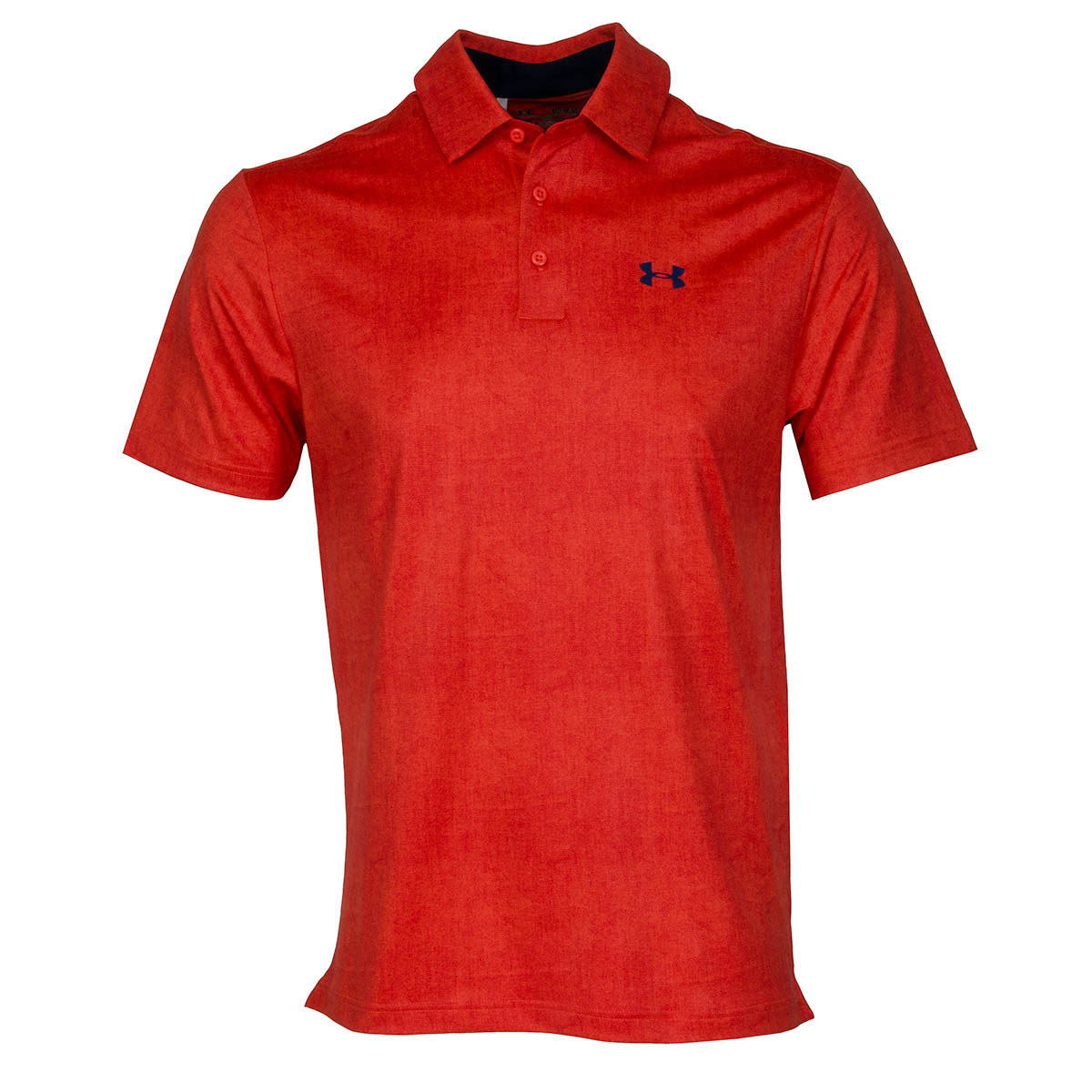 Under armour playoff polo shirt fire academy blackout navy for Academy under armour shirts