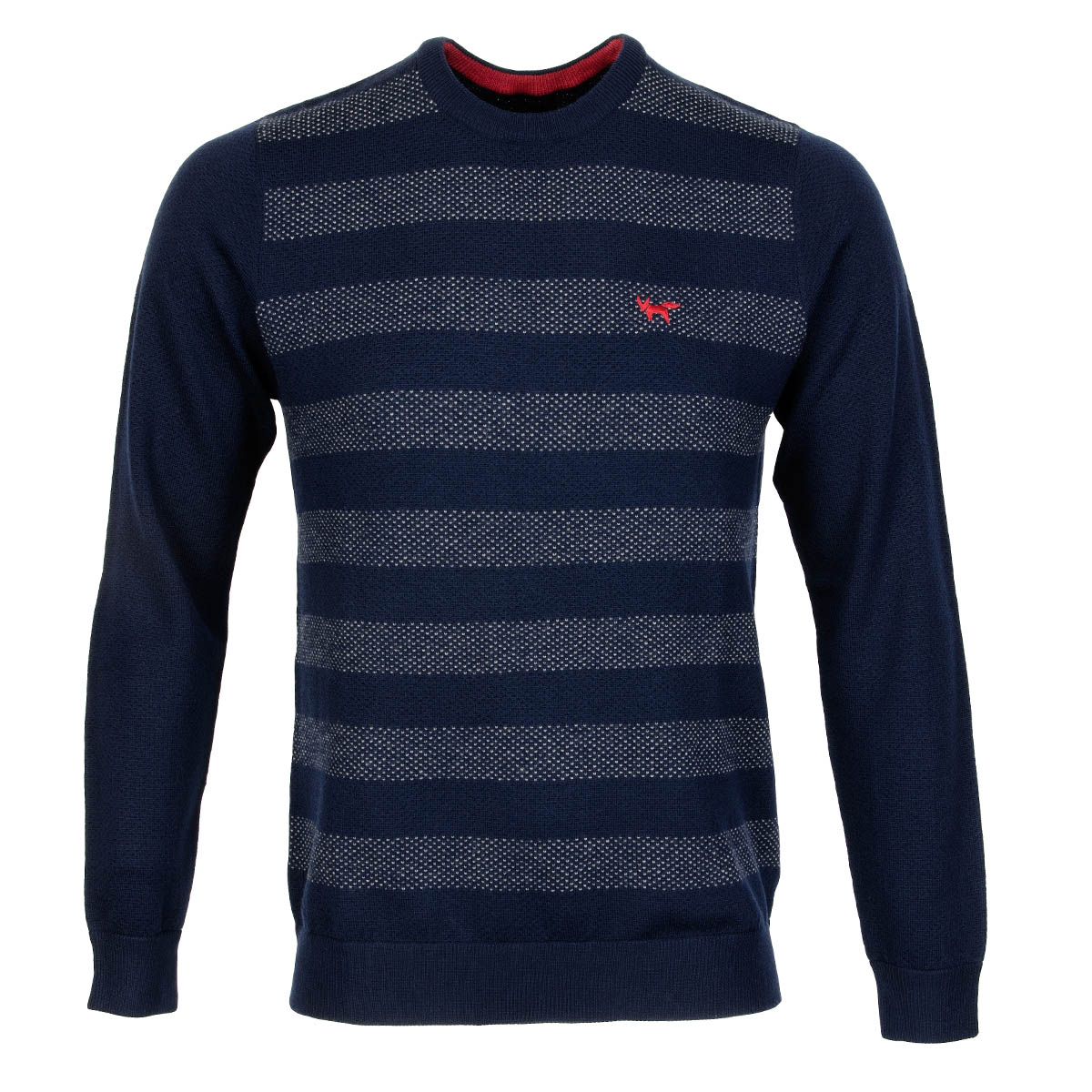Wolsey honeycomb tuck crew neck sweater total eclipse for No tuck golf shirts